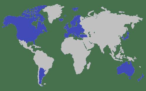 Export Regions Map